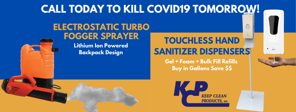 Electrostatic Sprayer Fogger. Touchless Automatic Hand Sanitizer Dispensers. Los Angeles