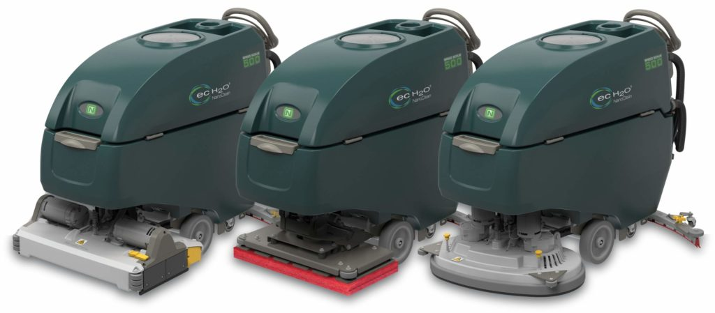 Nobles by Tennant SS500 floor scrubber line. Cylindrical brush, orbital, twin disk brush