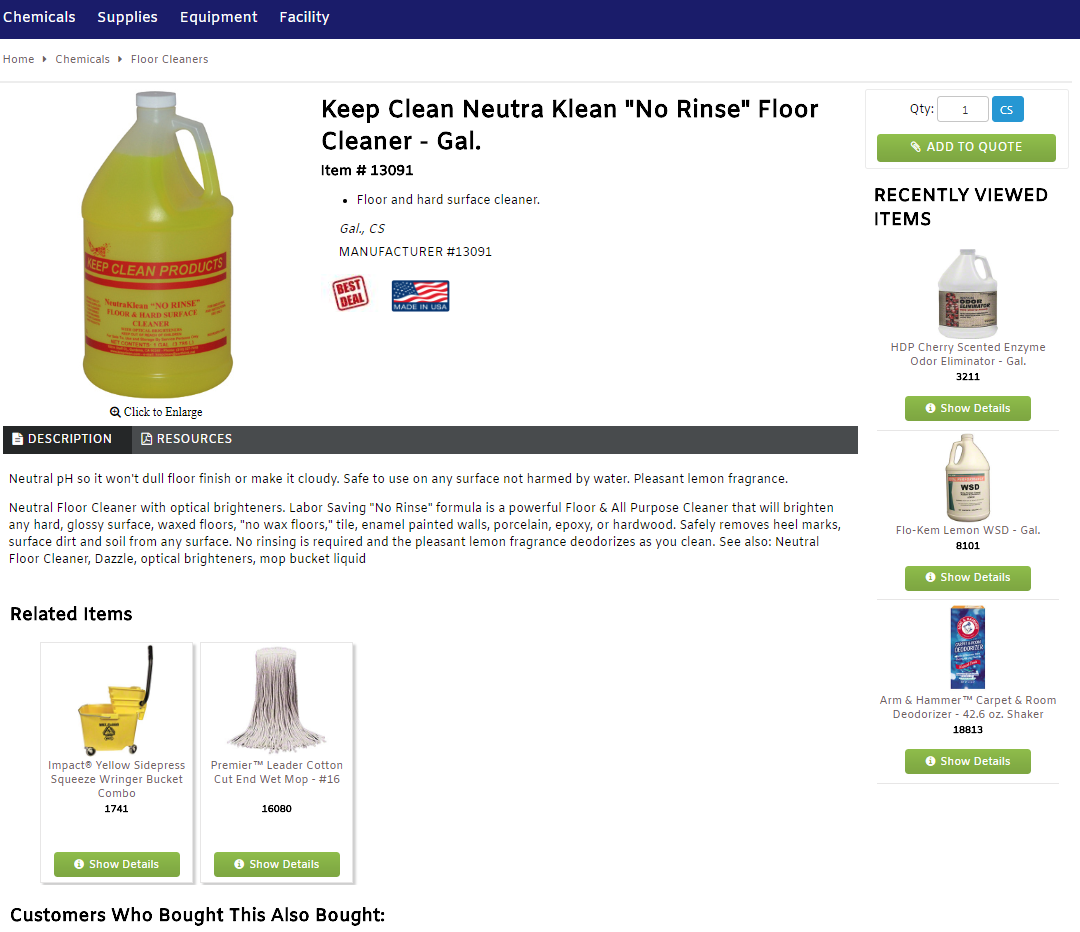 Keep Clean Products Los Angeles Janitorial Supplies