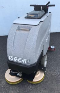 Tomcat MiniMag with pad drivers (shown) or brushes, Automatic Floor Scrubber, Walk Behind Floor Scrubber Drier, refurbished floor scrubber